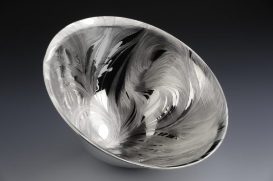 The Bowl Hand engraved bowl in size 300mmx300mmx260mm