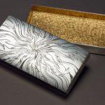 "Silver, Black and Yellow Gilding, hand engraved box. Commision 2008/9 Size 2"" x 4"" x 1"" Photo:  Simon B Armitt"