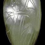 Iris Vase Carved Silver Vase
