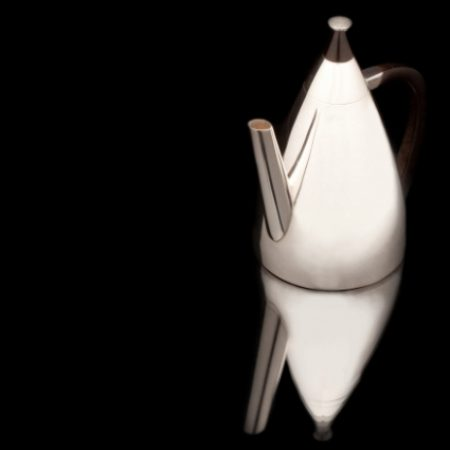 Small coffee pot A small pot for coffee or tea with ebony handle and top