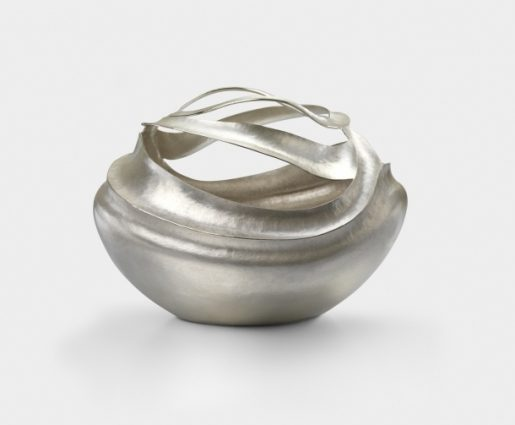 Amaranthine bowl Sterling silver bowl with hammered ridges to create a flowing pattern